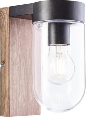 Applique da esterno aspetto legno e vetro Cabar