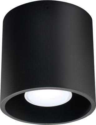 Stropná bodová lampa Roda, čierna