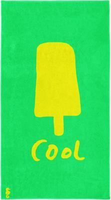 Strandtuch Popsicle mit Eismotiv und Aufschrift