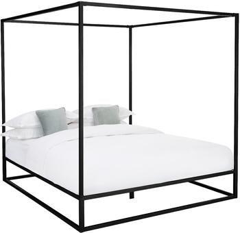 Łóżko z baldachimem z metalu Belle