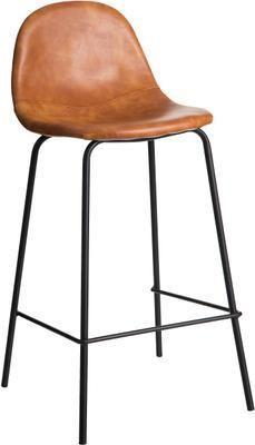 Krzesło barowe ze sztucznej skóry Adeline