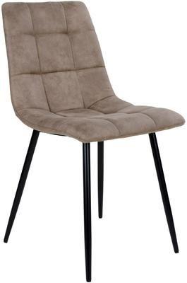 Krzesło tapicerowane z mikrofibry Middleton