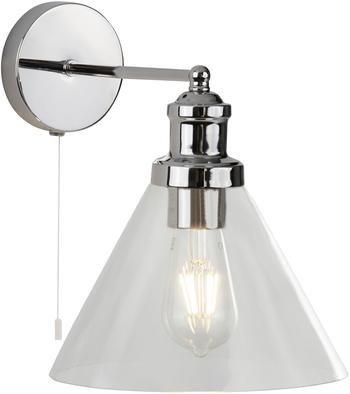 Wandlamp Pyramid met glazen lampenkap