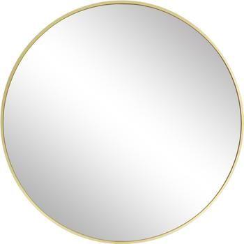Miroir mural rond doré Ida