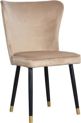 Krzesło tapicerowane z aksamitu Monti