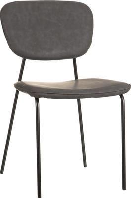 Krzesło tapicerowane ze sztucznej skóry Iskia