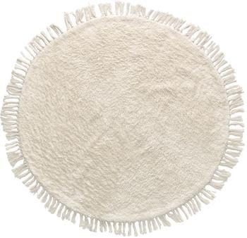 Kulatý bavlněný koberec s třásněmi Orwen