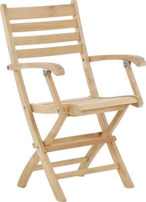 Krzesło ogrodowe z podłokietnikami  z drewna York