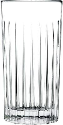 Kristallen longdrinkglazen Timeless met groefreliëf, 6 stuks