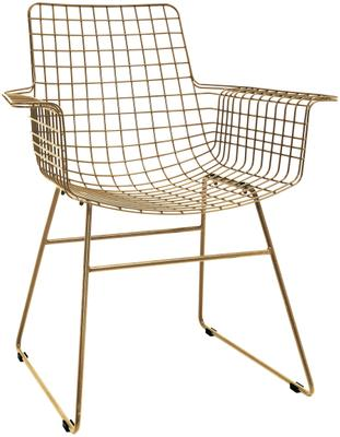 Kovová stolička s opierkami Wire