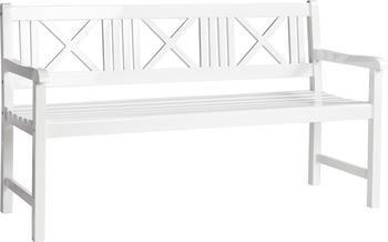 Garten-Sitzbank Rosenborg aus Holz in Weiß