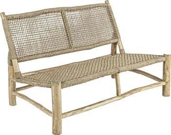 Canapé de jardin lounge en bois de teck Lampok (2 places)