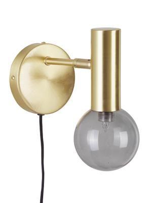 Wandlamp Wilson met glazen lampenkap en stekker