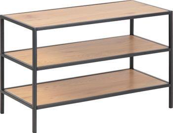 Półka na buty z drewna i metalu Seaford