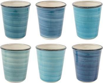 Mug artisanal bleu Baita, 6élém.