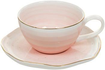 Tasse faite main avec sous-tasse Bella, 4élém.