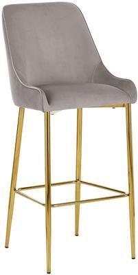 Zamatová barová stolička Ava