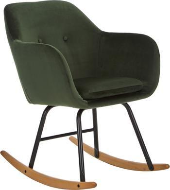 Fotel bujany  z aksamitu Emilia