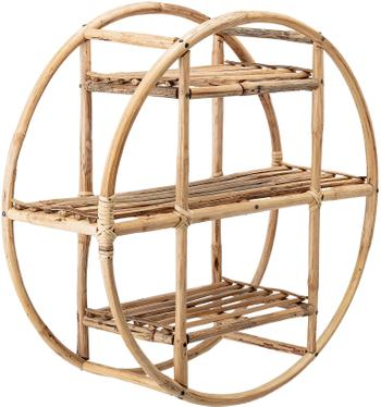 Okrągła półka ścienna z drewna bambusowego Sia