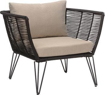 Fotel ogrodowy ze splotu z tworzywa sztucznego Mundo