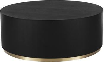Ronde XL-salontafel Clarice in zwart