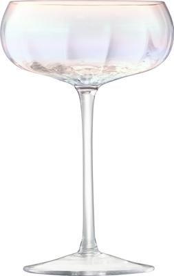 Copas pompadour de champán de vidrio soplado artesanalmente Pearl, 4uds.