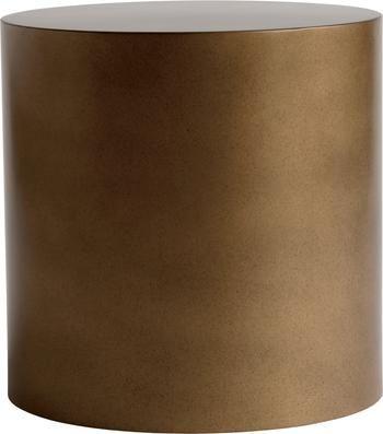 Runder Metall-Beistelltisch Metdrum in Honigfarben