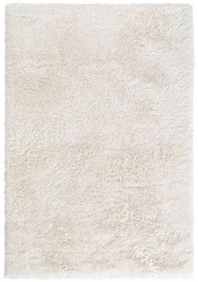 Glänzender Hochflor-Teppich Lea in Weiß