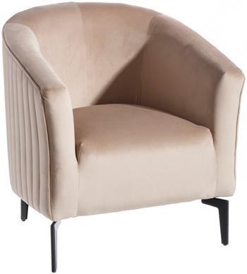 Fotel koktajlowy z aksamitu Babsy