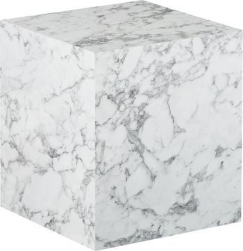Table d'appoint aspect marbre Lesley