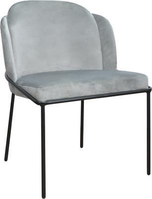 Krzesło tapicerowane z aksamitu Polly