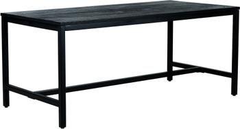 Table avec plateau en bois massif Raw