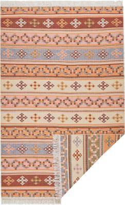 Kelimteppich Kaveri im Ethno-Style aus Baumwolle