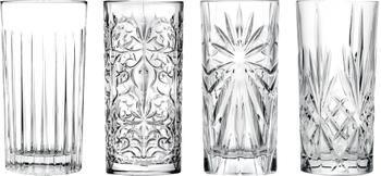Vasos highball de cristal con relive Bichiera, 4uds.