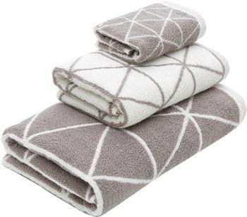 Set de toallas Elina, 3pzas., caras distintas