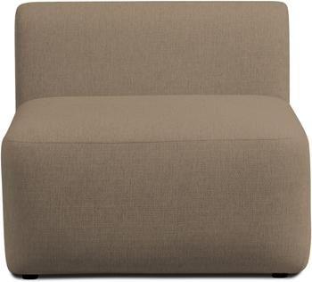 Chauffeuse pour canapé modulable brun Sofia