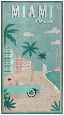 Strandtuch Miami