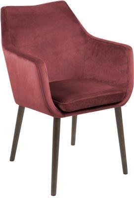 Sametová židle spodručkami Nora