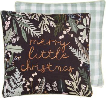 Housse de coussin 45x45 réversible Merry Little Christmas par Candice Gray