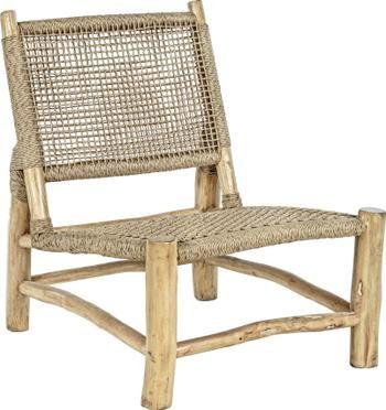 Fauteuil lounge bohème bois de teck Lampok