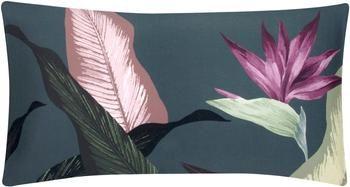 Funda de almohada de satén Flora, 45x85cm
