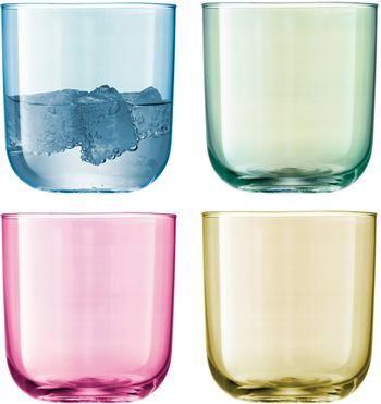 Vasos de colores artesanales Polka, 4uds.