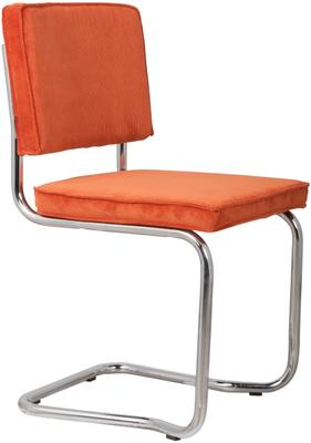 Chaise cantilever en velours côtelé Kink