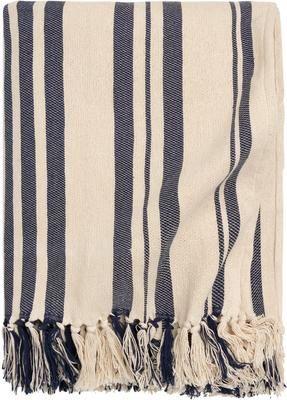 Couvre-lit pur coton à rayures Juarez
