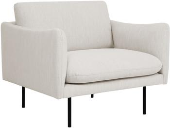 Fauteuil moderne beige Moby