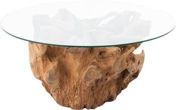 Mesa de centro de madera y vidrio Root