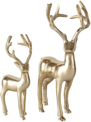 Set 2 cervi decorativi dorati Thielo