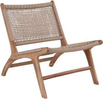Fotel wypoczynkowy z drewna tekowego Derby