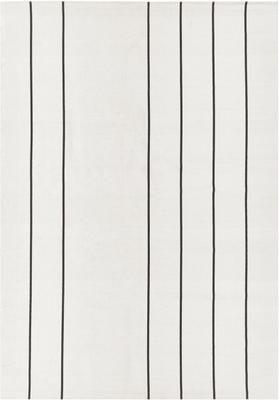 Flachgewebter Baumwollteppich David mit Linien, handgefertigt