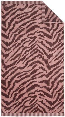 Strandtuch Belen mit Zebramuster in Rot/Rosa